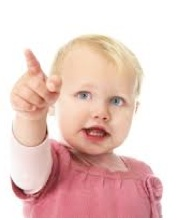 A child pointing